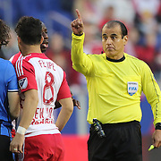 HARRISON, NEW JERSEY- November 06:  Referee Baldomero Toledo in action during the New York Red Bulls Vs Montreal Impact MLS playoff match at Red Bull Arena, Harrison, New Jersey on November 06, 2016 in Harrison, New Jersey. (Photo by Tim Clayton/Corbis via Getty Images)