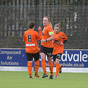 United's Fiona Mearns is congratualted after scoring goal number four  - Dundee United Women v Dunfermline Athletic Development - Scottish Womens Football League<br /> <br />  - &copy; David Young - www.davidyoungphoto.co.uk - email: davidyoungphoto@gmail.com