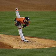 Dallas Keuchel, Houston Astros, pitching during the New York Yankees Vs Houston Astros, Wildcard game at Yankee Stadium, The Bronx, New York. 6th October 2015 Photo Tim Clayton for The Players Tribune