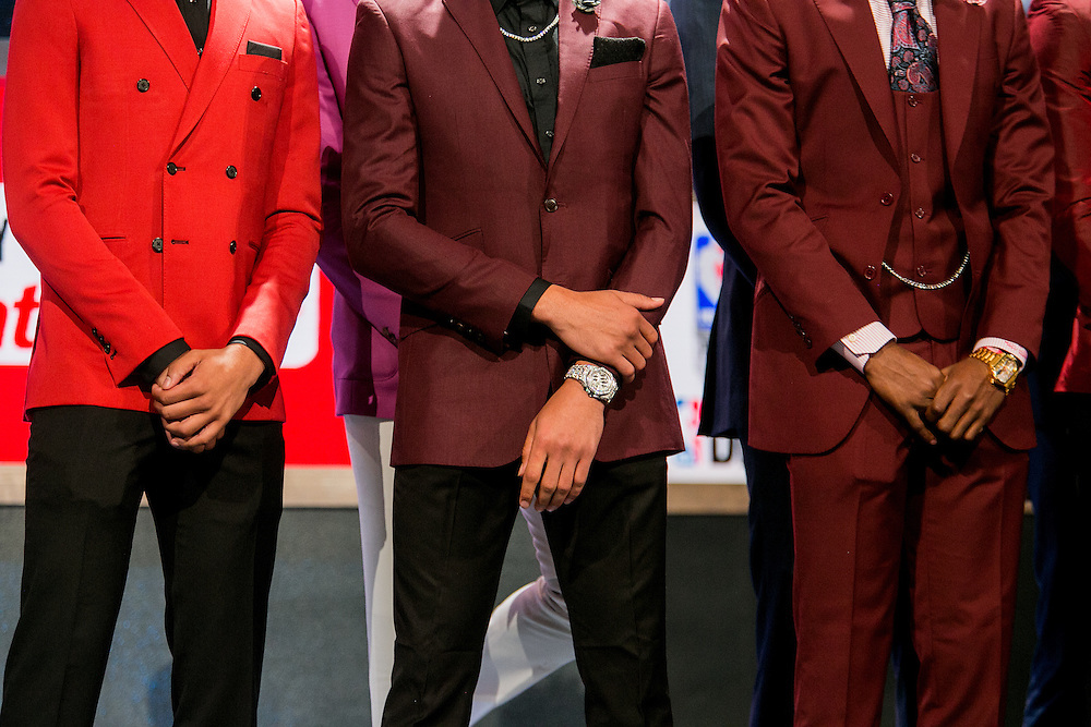 New York, New York - June 23, 2016: NBA draft prospects Malachi Richardson, Wade Baldwin and Malik Beasley pose for photographs prior to the NBA Draft at the Barclays Center New York, New York. (Sam Hodgson for ESPN)