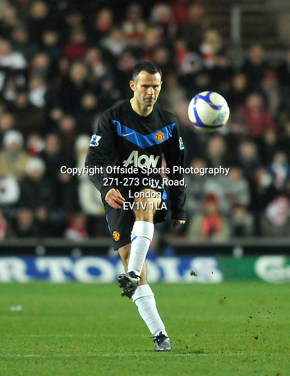 29/01/2011 - FA Cup Football - Southampton vs Manchester United - Ryan Giggs of Manchester United. - Photo: Charlie Crowhurst / Offside.