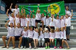 PK Ilirija, drzavni prvaki na drzavnem prvenstvu v 50 m bazenih mlajsih deckov in deklic v plavanju, 18. julij 2010, Kranj, Slovenija. (Photo by Vid Ponikvar / Sportida)