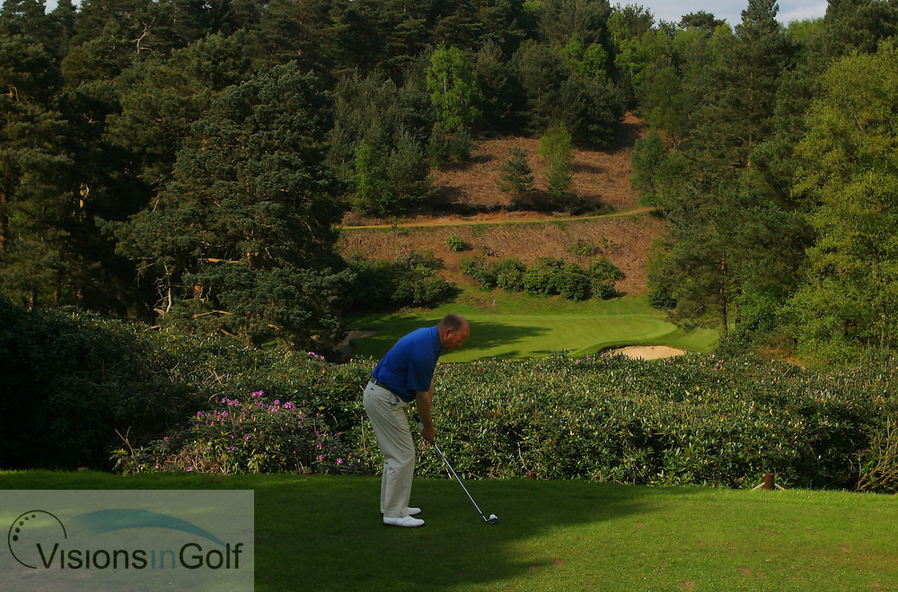 3rd hole, par 3, Woburn GC, Dukes course, England, UK <br /> <br /> Photo Mark Newcombe