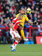 London - Saturday, January 3rd, 2009: Hameur Bouzza of Charlton Athletic and Elliot Omozusi of Norwich City during the FA Cup Third Round match at The Valley, London. (Pic by Alex Broadway/Focus Images)