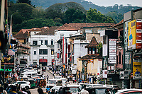 Kandy, Sri Lanka -- January 31, 2018: Downtown streets in Kandy.