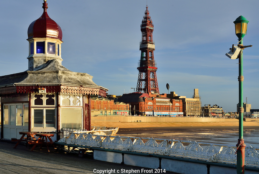 Blackpool Tower is an iconic landmark and tourist attraction in the Lancashire seaside town of Blackpool in Northwest England.<br />