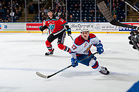 KELOWNA, CANADA - NOVEMBER 14: Trey Fix-Wolansky #27 of the Edmonton Oil Kings skates against the Kelowna Rockets on November 14, 2017 at Prospera Place in Kelowna, British Columbia, Canada.  (Photo by Marissa Baecker/Shoot the Breeze)  *** Local Caption ***