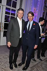 Left to right, ZAC GOLDSMITH and BEN ELLIOT at the Quintessentially Foundation poker evening at The Savoy Hotel, London on 30th October 2012.