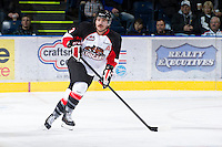 KELOWNA, CANADA - DECEMBER 8: Ryan Hanes #3 of the Prince George Cougars skates on the ice at the Kelowna Rockets on December 8, 2012 at Prospera Place in Kelowna, British Columbia, Canada (Photo by Marissa Baecker/Shoot the Breeze) *** Local Caption ***