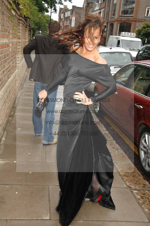 TARA PALMER-TOMPKINSON at the annual Sir David &amp; Lady Carina Frost Summer Party in Carlyle Square, London SW3 on 5th July 2007.<br />