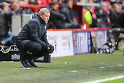 Hull City manager Grant McCann during the EFL Sky Bet Championship match between Charlton Athletic and Hull City at The Valley, London, England on 13 December 2019.