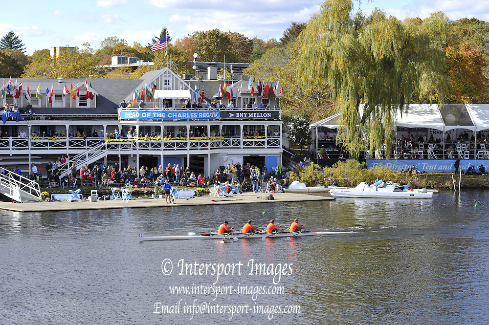 """Boston,  USA  ."""" 2012 Head of the Charles"""".  ..Description; General views of Cambridge Boathouse,  2012 Head of the Charles... ..Sunday  21/10/2012..[Mandatory Credit: Peter Spurrier/Intersport Images]"""