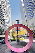 Give, a sculpture in Gateway Public Plaza on Lake & State Streets in the Loop District in Chicago, IL.