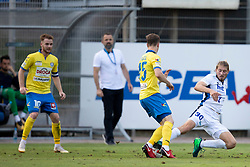 Amadej Brecl of NK Celje and Leon Marinic of ND Gorica during football match between NK Celje and ND Gorica in 2nd Round of Prva liga Telekom Slovenije 2018/19, on July 27, 2018 in Sadion Z'Dezele, Celje, Slovenia. Photo by Urban Urbanc / Sportida