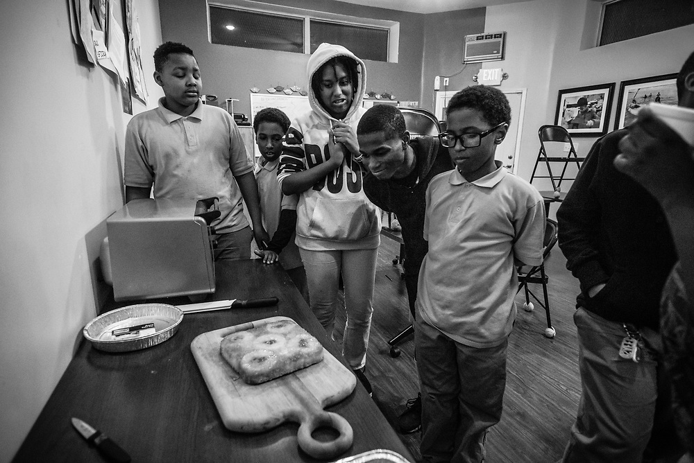 BALTIMORE, MD -- 3/6/17 -- Van Brooks runs the Safe Alternative Center, which he started to give middle school kids in West Baltimore a safe place to learn and play. <br /> <br /> Brooks was a Division 1 prospect when he played football in high school, but was paralyzed in a freak accident after making a tackle in his junior year. He regained the use of his arms, even walking again with much assistance, and graduated on time from high school. He later earned a degree in marketing from Towson University. Though still confined to a wheelchair, he is self-sufficient and runs the center.&hellip;by Andr&eacute; Chung #_AC19467