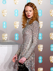 Zoe Boyle attending the 72nd British Academy Film Awards held at the Royal Albert Hall, Kensington Gore, Kensington, London.