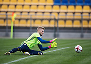SWIDNIK, POLAND - JUNE 14: Anton Cajtoft during the Swedish U21 national team training at Stadion Miejski on June 14, 2017 in Swidnik, Poland. (Photo by Nils Petter Nilsson/Getty Images)