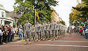 ROTC marches in the homecoming parade on Oct. 11, 2014.