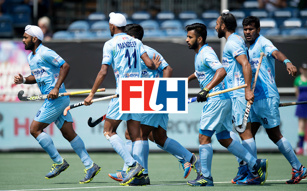 BREDA - Rabobank Hockey Champions Trophy<br /> India - Australia<br /> Photo: Indian team celebrates.<br /> COPYRIGHT WORLDSPORTPICS FRANK UIJLENBROEK