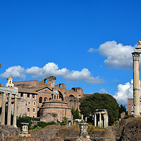 Roman Forum Ruins in Rome, Italy <br />