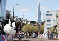 Women's elite race passes the Shard<br /> The Virgin Money London Marathon 2014<br /> 13 April 2014<br /> Photo: Jed Leicester/Virgin Money London Marathon<br /> media@london-marathon.co.uk