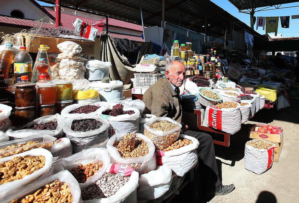 Old market trader in Stepanakert