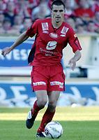 Fotball, Tippeligaen, 30 Juli 2005, Brann - Vålerenga, resultat 1-2, Paul Scharner, Brann. Foto: Kjetil Espetvedt, Digitalsport.