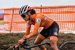 ALVARADO Ceylin del Carmen (NED) during Women Elite race, 2020 UCI Cyclo-cross Worlds Dübendorf, Switzerland, 1 February 2020. Photo by Pim Nijland / Peloton Photos | All photos usage must carry mandatory copyright credit (Peloton Photos | Pim Nijland)
