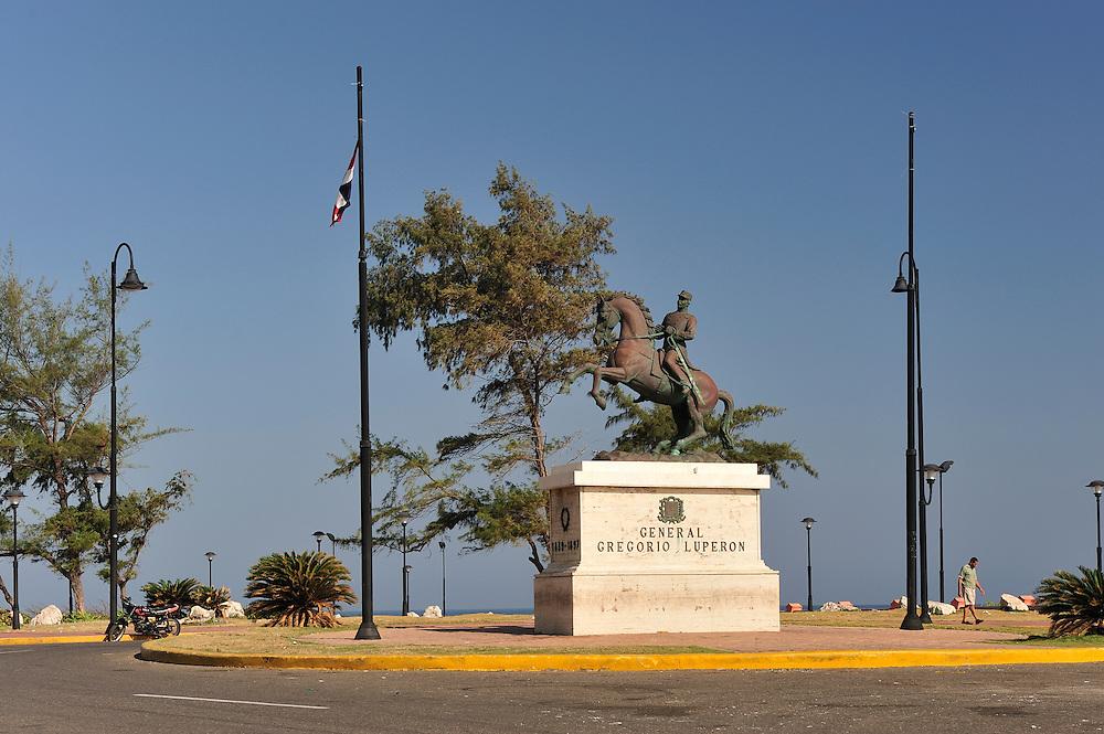 Statue at ,Museo Fortaleza Colonial San Felipel,Puerto Plata, Dominican Republic, Caribbean