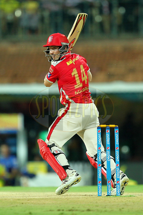 Shaun Marsh of Kings XI Punjab during match 24 of the Pepsi IPL 2015 (Indian Premier League) between The Chennai Superkings and The Kings XI Punjab held at the M. A. Chidambaram Stadium, Chennai Stadium in Chennai, India on the 25th April 2015.Photo by:  Prashant Bhoot / SPORTZPICS / IPL