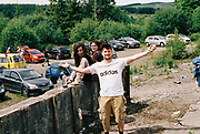 Man in Adidas tee shirt, Halfway Quarry Brecon Wales, May 2017