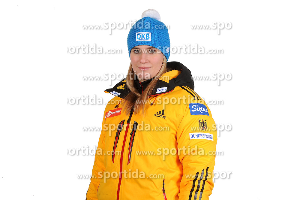 03.01.2014, Kunsteisbahn, Koenigssee, GER, BSD, Rennrodler Team Deutschland, Portrait, im Bild Natalie Geisenberger (ASV Miebach) // during Luge athletes of team Germany, Portrait Shooting at the Kunsteisbahn in Koenigssee, Germany on 2014/01/04. EXPA Pictures © 2014, PhotoCredit: EXPA/ Eibner-Pressefoto/ Stuetzle<br /> <br /> *****ATTENTION - OUT of GER*****