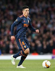 Facundo Roncaglia of Valencia on the ball - Mandatory by-line: Arron Gent/JMP - 02/05/2019 - FOOTBALL - Emirates Stadium - London, England - Arsenal v Valencia - UEFA Europa League Semi-Final 1st Leg