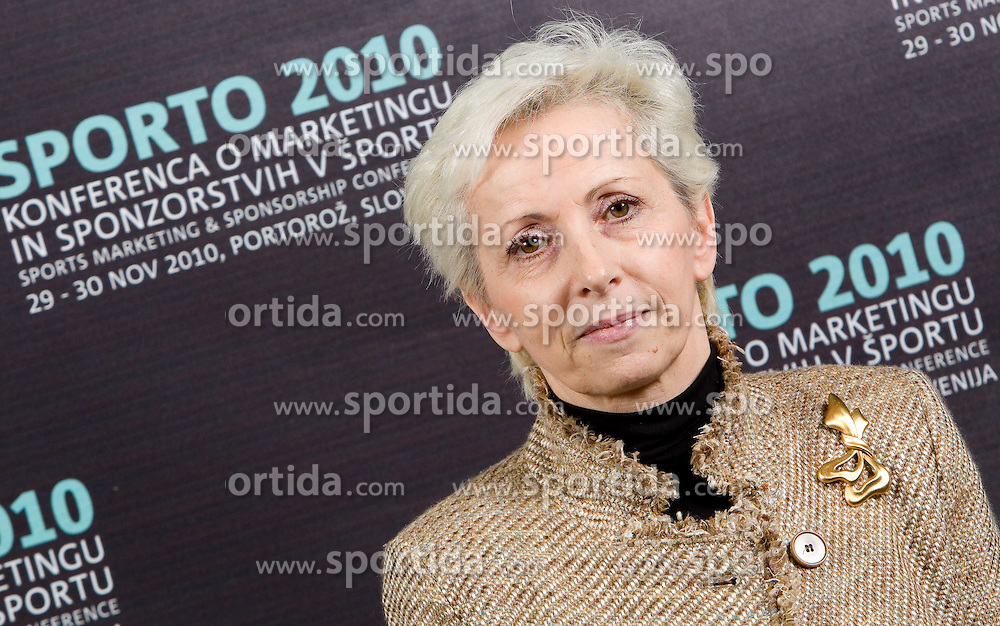 Ivanka Mihelcic during Day two of Sporto  2010 - Sports marketing and sponsorship conference, on November 30, 2010 in Hotel Slovenija, Portoroz/Portorose, Slovenia. (Photo By Vid Ponikvar / Sportida.com)