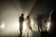 © Benjamin Girette / IP3 PRESS : le 16 Novembre 2012 - Dans la ZAD (Zone a Defendre) - Territoire prévu pour le projet d'aeroport - Des centaines de militants se rassemblent la veille d'une journée de mobilisation nationale contre le projet d'aeroport, a proximité de Notre Dame des Landes.