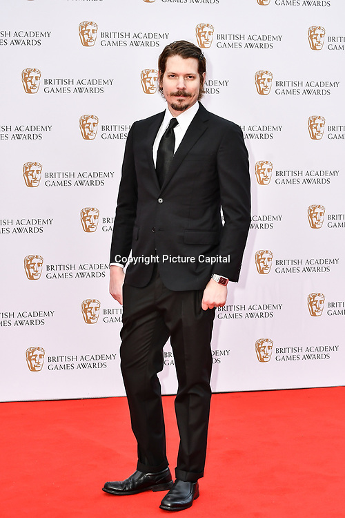 Lucus Pope Arrivers at the British Academy (BAFTA) Games Awards at Queen Elizabeth Hall, Southbank Centre  on 4 March 2019, London, UK.