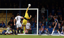 Aaron Chapman of Peterborough United tips the ball over the bar from a Southend United attack - Mandatory by-line: Joe Dent/JMP - 08/09/2018 - FOOTBALL - Roots Hall - Southend-on-Sea, England - Southend United v Peterborough United - Sky Bet League One