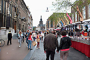 Nederland, Nijmegen, 26-4-2014Koningsdag in het centrum.Winkelstraat, Broerstraat, in Nijmegen op een marktdag. Winkelen, markt.Foto: Flip Franssen/Hollandse Hoogte