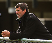 Irish soccer legend Roy Keane watches the All Blacks train.<br /> All Blacks Training Session at Rugby League Park, Newtown, Wellington. Tuesday 3 June 2008. Photo: Dave Lintott/PHOTOSPORT