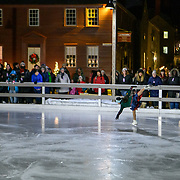 Taken at a Victorian Skaters performance during Candle Light Stroll at Strawbery Banke Museum's Labrie Family Skate at Puddle Dock Pond in Portsmouth, NH. December 2019.