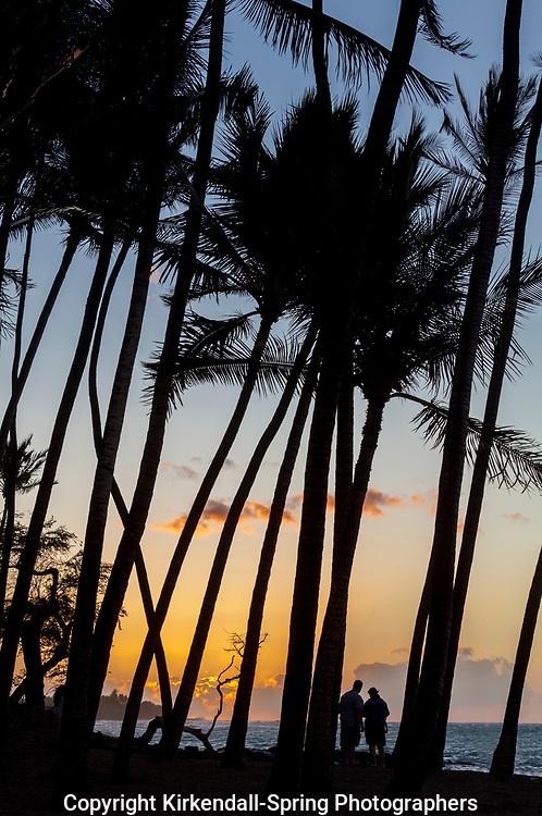 HI00427-00...HAWAI'I - Sunset along the Kona Coast at Anaeho'omalu Bay on the island of Hawai'i.