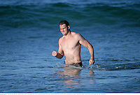 1 July 2013; James Horwill, Australia, during a recovery session ahead of their 3rd Test against the British & Irish Lions on Saturday. British & Irish Lions Tour 2013, Australia Recovery Session. Coogee Beach, Sydney, Australia. Picture credit: Stephen McCarthy / SPORTSFILE