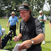 Phil Mickelson signs autographs the ProAm at The Barclays Golf Tournament at The Ridgewood Country Club, Paramus, New Jersey, USA. USA. 20th August 2014. Photo Tim Clayton