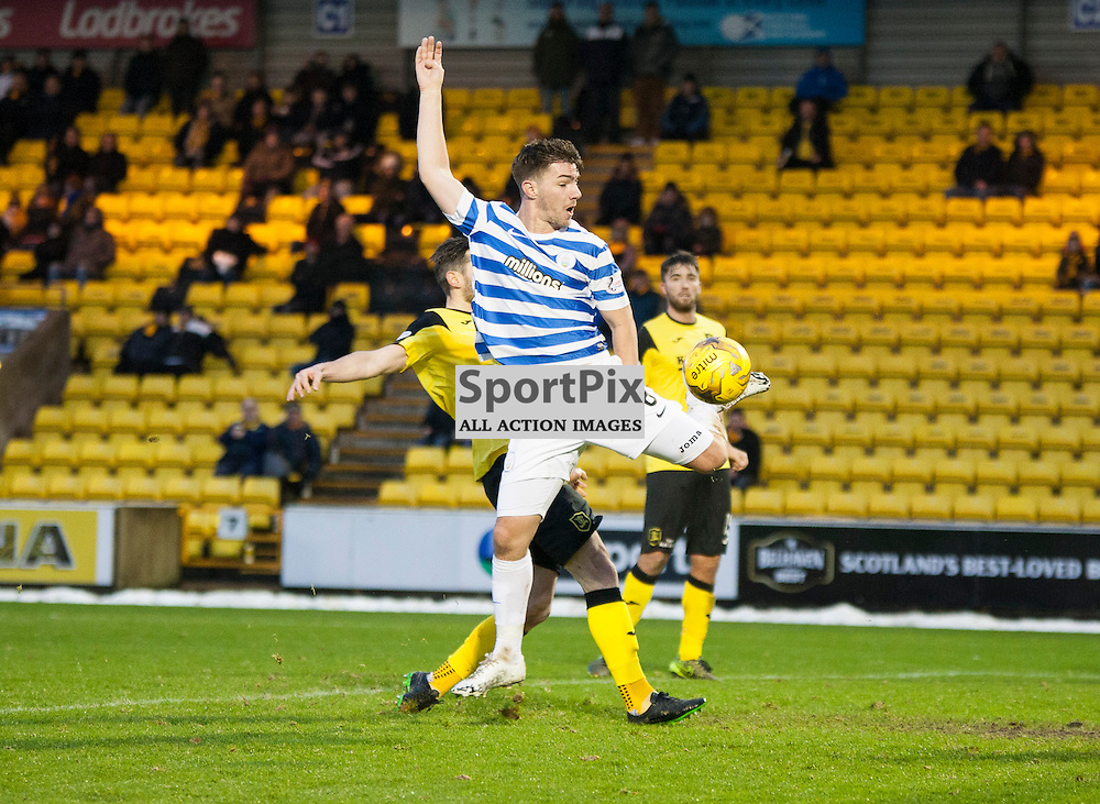 Livingston v Greenock Morton, Scottish Cup 4th Round, 9 January 2016, Ross Forbes (Greenock Morton, 8) misses a chance during the Livingston v Greenock Morton Scottish Cup 4th Round match played at the Toni Macaroni Arena, © Chris Johnston | SportPix.org.uk
