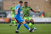 Forest Green Rovers Ebou Adams(14) on the ball during the The FA Cup match between Forest Green Rovers and Billericay Town at the New Lawn, Forest Green, United Kingdom on 9 November 2019.
