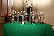 """BOLOGNA, 22/02/2009<br /> FEDERAZIONE ITALIANA PALLACANESTRO PREMIO """"ITALIA BASKET HALL OF FAME""""<br /> NELLA FOTO LE COPPE"""