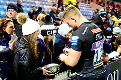 Sam Hill of Exeter Chiefs signs autographs - Mandatory by-line: Dougie Allward/JMP - 30/11/2019 - RUGBY - Sandy Park - Exeter, England - Exeter Chiefs v Wasps - Gallagher Premiership Rugby