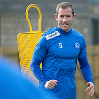 St Johnstone Training....29.10.13<br /> Frazer Wright pictured in training ahead of tomorrow's League Cup game at Morton.<br /> Picture by Graeme Hart.<br /> Copyright Perthshire Picture Agency<br /> Tel: 01738 623350  Mobile: 07990 594431