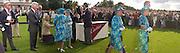 Mrs. Susan Ferguson curtseying to the queen, final Cartier International Polo. Guard's Polo Club, Windsor Great Park. 27 July 2003.© Copyright Photograph by Dafydd Jones 66 Stockwell Park Rd. London SW9 0DA Tel 020 7733 0108 www.dafjones.com