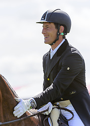 World and European Champion Michael Jung of Germany and his horse LA BIOSTHETIQUE - SAM FRW lead after the Dressage phase of the Mitsubishi Motors Badminton Horse Trials, May 4 2013.